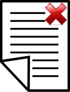 notificaciones inválidas